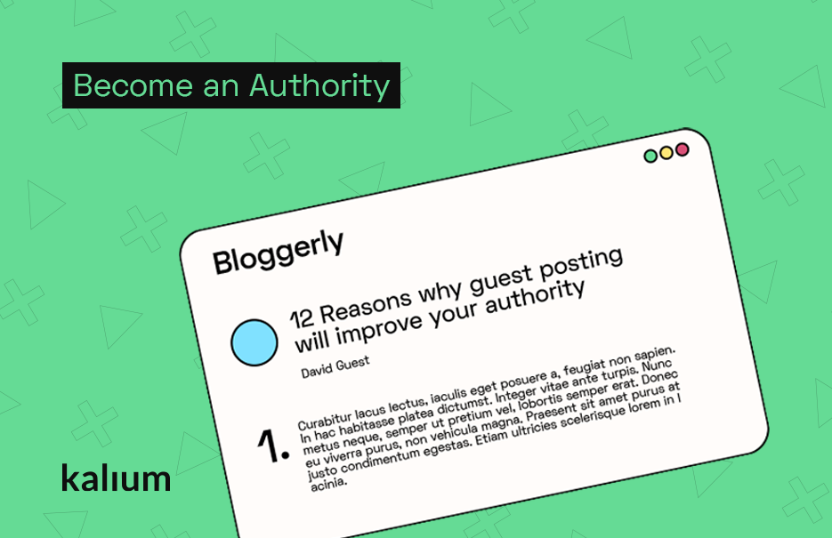 Build Authority By Writing Guest Articles